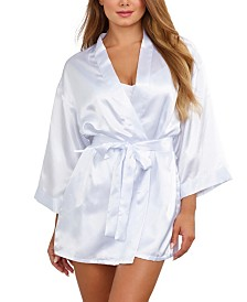 Dreamgirl Satin Robe & Chemise Set