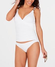 MICHAEL Michael Kors Ruched Tankini Top & Bikini Bottoms