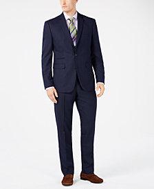Vince Camuto Men's Slim-Fit Stretch Navy Pindot Suit Separates