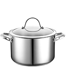 6-Quart Stainless Steel Stockpot with Lid
