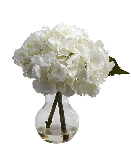 Nearly Natural Blooming Hydrangea w/ Vase Arrangement