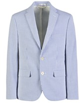 d39776ebb Lauren Ralph Lauren Big Boys Classic-Fit Seersucker Stripe Suit Jacket