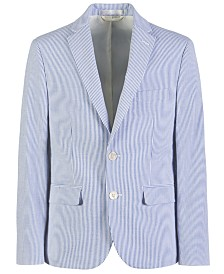 Lauren Ralph Lauren Big Boys Classic-Fit Seersucker Stripe Suit Jacket