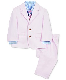 Nautica Baby Boys 4-Pc. Suit Jacket, Shirt, Pants & Plaid Necktie Set