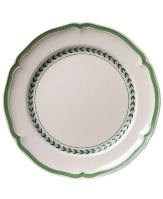 French Garden Green Lines Dinner Plate