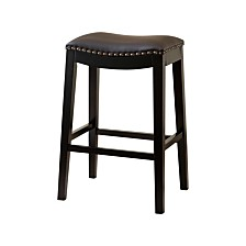 Jaden Bonded Leather Saddle Bar Stool, Quick Ship