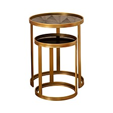 Maxine Gold Nesting End Tables (Set of 2), Quick Ship