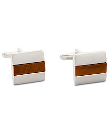 Kenneth Cole Reaction Men's Tiger's Eye Cuff Links