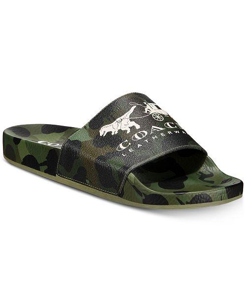 COACH Men's Camo Slide Sandals & Reviews Men Macy's