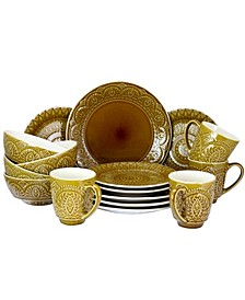 Cleo 16 Piece Stoneware Dinnerware Set