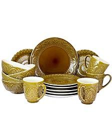 Elamas Cleo 16 Piece Stoneware Dinnerware Set