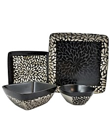 Desert Bloom 16 Piece Stoneware Dinnerware Set