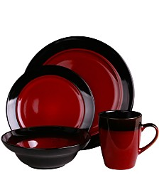 Elama's Tanizia 16 Piece High Gloss Dinnerware Set