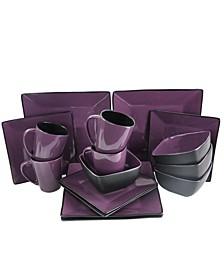 Mulberry Loft 16 Piece Modern Premium Stoneware Dinnerware Set