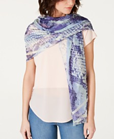 I.N.C. Soft Python-Print Wrap, Created for Macy's