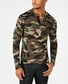 GUESS Men's Camo Henley