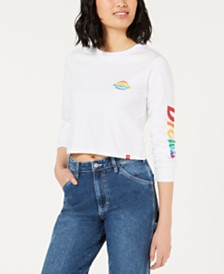 Dickies Cotton Rainbow Logo Crop Top