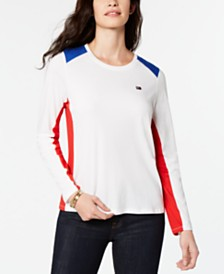 Tommy Hilfiger Sport Colorblocked-Shoulder T-Shirt