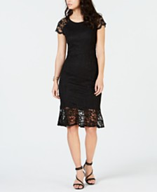 Thalia Sodi Short Sleeve Lace Dress