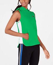 Tommy Hilfiger Sport Side-Striped Sleeveless Hoodie, Created for Macy's