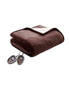 Woolrich Heated Plush to Berber Reversible Full Blanket
