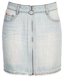 Epic Threads Big Girls Side Stripe Cotton Denim Skirt, Created for Macy's