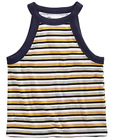 Epic Threads Big Girls Striped High-Neck Tank Top, Created for Macy's