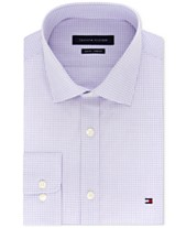 930173ebe12 Tommy Hilfiger Men s Slim-Fit Stretch Check Dress Shirt