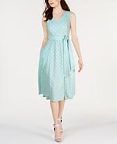 b34f009a52b Calvin Klein Polka-Dot Fit   Flare Dress