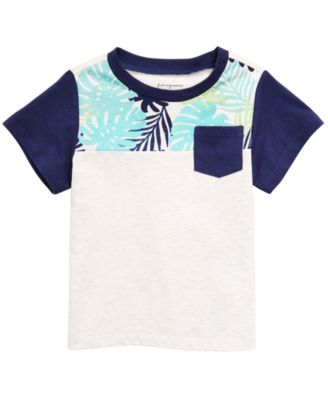 Baby Boys Colorblocked Pocket T-Shirt, Created for Macy's