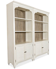 York Two-Tone Home Office Bookcase, Set of 2