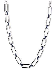 """Lauren Ralph Lauren Silver-Tone & Enamel Link 16"""" Collar Necklace"""
