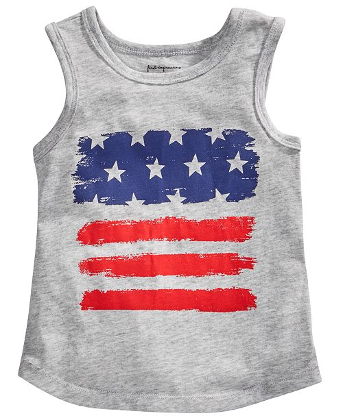 First Impressions Baby Boys Red, White & Blue Graphic Tank Top, Created for Macy's