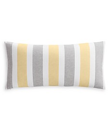 """Charter Club Damask Designs Texture Stripe 12"""" x 24"""" Decorative Pillow, Created for Macy's"""