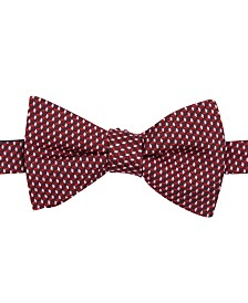 Alfani Men's Mini Neat Pre-Tied Bow Tie & Solid Pocket Square Set, Created for Macy's