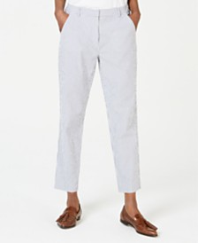 Weekend Max Mara Andorra Striped Cropped Trousers