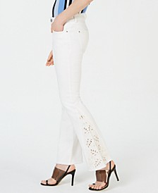INC Embroidered Boot-Cut Jeans, Created for Macy's