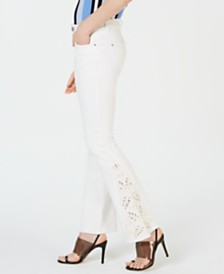 I.N.C. Embroidered Boot-Cut Jeans, Created for Macy's