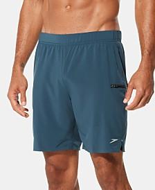 """Speedo Men's Active Flex Stretch 7-1/2"""" Hybrid Swim Shorts"""