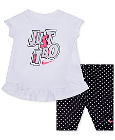 Nike Baby Girls 2-Pc. Dri-FIT Tunic & Capri Set