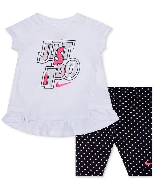 8e9fd3726 Nike Baby Girls 2-Pc. Dri-FIT Tunic & Capri Set & Reviews - Sets ...