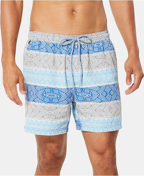 "Speedo Men's Inwrought Geo-Stripe 6"" Swim Trunks"