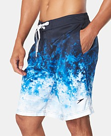 "Speedo Men's Kumo Crystal TurboDri Printed 9"" E-Board Swim Trunks"