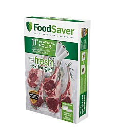 "FoodSaver 11"" x 16 Vacuum Seal Roll with BPA-Free Multi-Layer Construction for Food Preservation, 3-Pack"