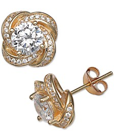 Cubic Zirconia Love Knot Stud Earrings, Created for Macy's