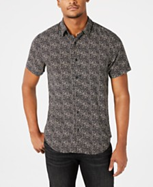 GUESS Men's Rogan Punk Leopard Shirt