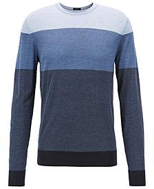 BOSS Men's Fortino Regular-Fit Colorblock Silk Sweater