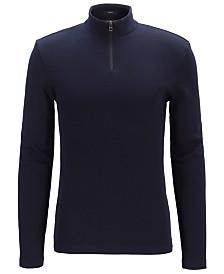 BOSS Men's Tenore Slim-Fit Ribbed Cotton T-Shirt