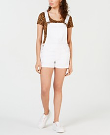 Dollhouse Juniors' Ripped Cuffed Shortalls