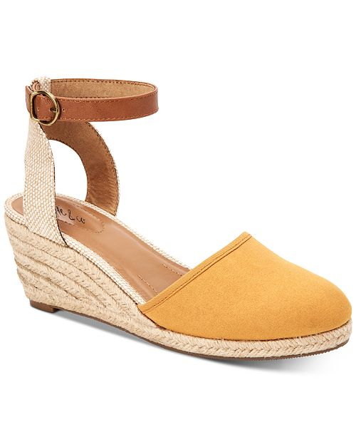 Style & Co Mailena Wedge Espadrille Sandals, Created for Macy's